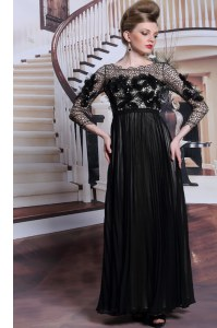 Appliques and Sequins Homecoming Dress Online Black Clasp Handle 3 4 Length Sleeve Asymmetrical