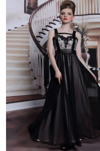Floor Length Column/Sheath Sleeveless Black Prom Dress Criss Cross