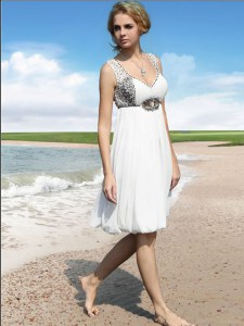 Customized White Column/Sheath Beading Red Carpet Prom Dress Zipper Chiffon Sleeveless Floor Length