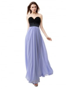 Floor Length Lavender Dress for Prom Sweetheart Sleeveless Lace Up