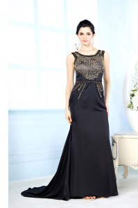 Most Popular Sleeveless Beading Side Zipper Homecoming Dress