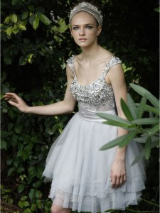 Organza Sleeveless Knee Length Cocktail Dresses and Beading and Ruffles