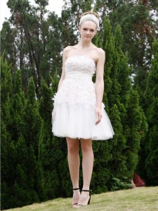 Modern White Sleeveless Organza Zipper Homecoming Dress for Prom and Party