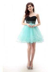 Sweetheart Sleeveless Tulle Cocktail Dresses Lace Zipper