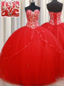 Sexy Sleeveless Lace Up Floor Length Beading and Appliques Vestidos de Quinceanera