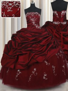 Great Sleeveless Beading and Pick Ups Lace Up Sweet 16 Quinceanera Dress
