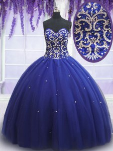 Luxurious Tulle Sleeveless Sweet 16 Dresses and Beading and Sequins