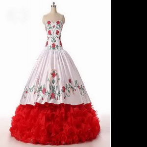 Pretty Organza Sleeveless Floor Length Quince Ball Gowns and Embroidery and Ruffled Layers