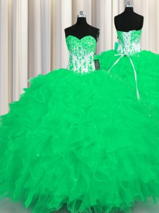 Traditional Floor Length Turquoise Quinceanera Gowns Sweetheart Sleeveless Lace Up