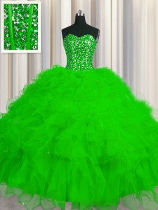 Visible Boning Floor Length Ball Gowns Sleeveless Ball Gown Prom Dress Lace Up