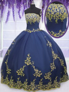 Artistic Sleeveless Zipper Floor Length Appliques Quinceanera Gowns