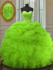 Spectacular Pick Ups Floor Length 15 Quinceanera Dress Sweetheart Sleeveless Lace Up