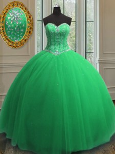 Flare Sequins Floor Length Ball Gowns Sleeveless Sweet 16 Dress Lace Up