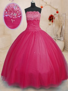 Coral Red Off The Shoulder Lace Up Beading Quinceanera Gowns Sleeveless
