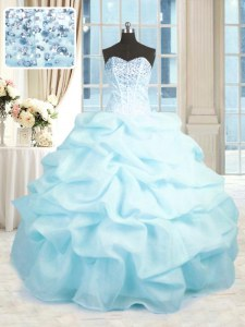 Fine Sleeveless Beading and Ruffles Lace Up Sweet 16 Quinceanera Dress