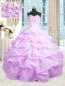 Designer Floor Length Ball Gowns Sleeveless Rose Pink Sweet 16 Quinceanera Dress Lace Up
