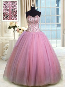 Sweetheart Sleeveless Organza Quinceanera Dress Beading and Ruching Lace Up