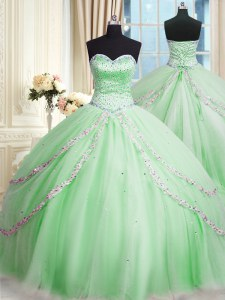 Amazing With Train Ball Gowns Sleeveless Quinceanera Dresses Court Train Lace Up