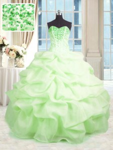 Inexpensive Floor Length Lace Up Sweet 16 Quinceanera Dress for Military Ball and Sweet 16 and Quinceanera with Beading and Ruffles