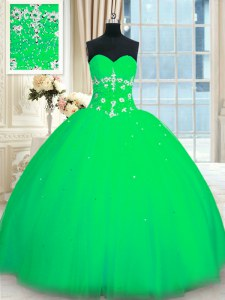 Cheap Green Sweet 16 Dresses Military Ball and Sweet 16 and Quinceanera and For with Appliques Sweetheart Sleeveless Lace Up