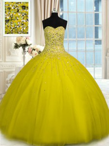 Charming Floor Length Olive Green Quinceanera Gowns Sweetheart Sleeveless Lace Up