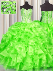 Hot Sale Floor Length Ball Gowns Sleeveless 15 Quinceanera Dress Lace Up