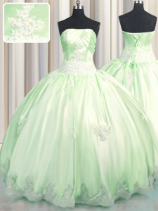 Top Selling Sleeveless Beading and Appliques Lace Up Sweet 16 Quinceanera Dress