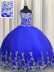Designer Halter Top Organza Sleeveless Floor Length Sweet 16 Dress and Beading and Appliques