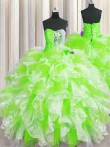 Custom Design Floor Length Multi-color Quinceanera Gown Sweetheart Sleeveless Lace Up