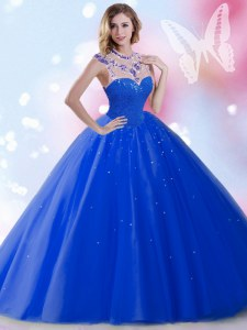 Captivating Sleeveless Zipper Floor Length Beading and Sequins Quinceanera Gowns