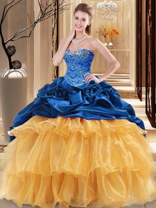 Flirting Floor Length Ball Gowns Sleeveless Multi-color Vestidos de Quinceanera Lace Up
