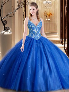 Modern Sleeveless Lace Up Floor Length Beading and Appliques Quinceanera Gown