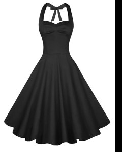 Knee Length Backless Homecoming Dress Black for Prom and Party with Ruching