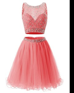 Extravagant Sweetheart Sleeveless Organza Beading and Belt Side Zipper