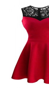 A-line Prom Dresses Red Scoop Satin Sleeveless Tea Length Zipper