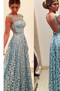 Suitable Sleeveless Lace Backless Homecoming Dress