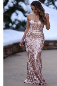 Fashionable Mermaid Peach Sweetheart Zipper Appliques Evening Dress Sleeveless