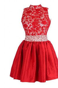 Sleeveless Beading and Lace Criss Cross Pageant Dress Womens