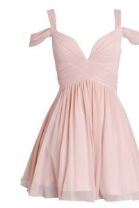 Customized Sweetheart Sleeveless Chiffon Cocktail Dress Ruching Backless