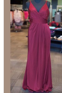Ideal Sleeveless Zipper Floor Length Ruching and Pleated Dress for Prom