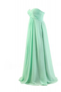 Sleeveless Floor Length Pleated Zipper with Apple Green