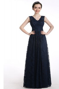 Exquisite Chiffon Sleeveless Floor Length and Lace