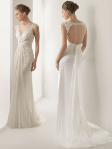 Glorious White Sleeveless With Train Ruching Backless Bridal Gown