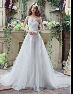 Exceptional White Wedding Dress Tulle and Lace Court Train Sleeveless Beading and Lace and Appliques