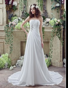 Sleeveless Brush Train Beading and Appliques and Ruching Lace Up Wedding Dresses