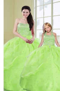 Popular Sequins Floor Length Ball Gowns Sleeveless Sweet 16 Quinceanera Dress Lace Up