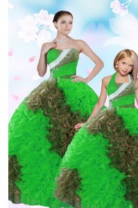 Clearance Multi-color Sweetheart Neckline Sequins and Pick Ups Quinceanera Gowns Sleeveless Lace Up