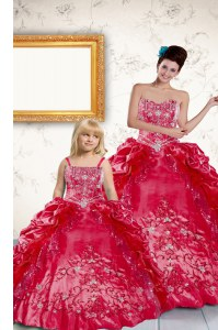 Clearance Sleeveless Lace Up Floor Length Beading and Embroidery and Pick Ups Quinceanera Dress
