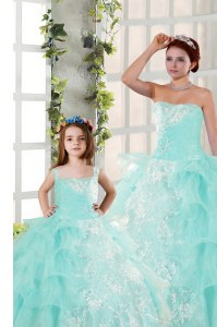 New Style Sleeveless Lace Up Floor Length Beading and Ruffled Layers and Ruching Sweet 16 Dresses
