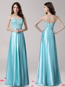 Sleeveless Beading and Appliques and Bowknot Zipper Formal Dresses